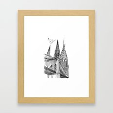 NYC Silhouettes Framed Art Print