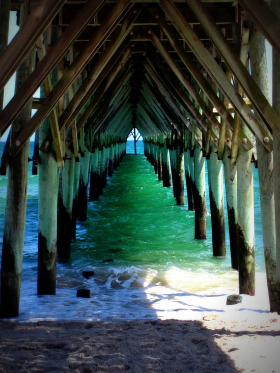 Peaceful Under the Pier Canvas Print