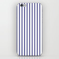 Vertical Lines (Navy Blue/White) iPhone & iPod Skin