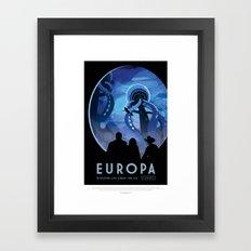 Europa - NASA Space Travel Poster  Framed Art Print