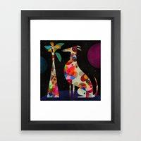 HOUND & VASE Framed Art Print
