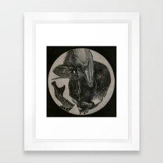 Totenkopf und Fledermaus II Framed Art Print