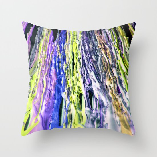 Wax #6 Throw Pillow