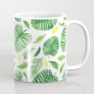 Palm Leaf Pattern Mug