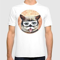 Dubstep Cat - Cats With … Mens Fitted Tee White SMALL
