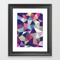 Dark Garden Tris Framed Art Print