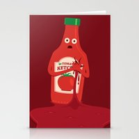 Fake Blood Stationery Cards