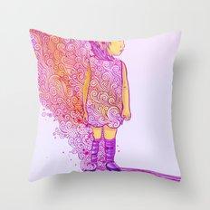 Flame doodle Throw Pillow