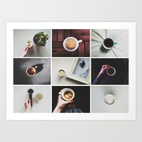 Morning Stories - COFFEE… Art Print