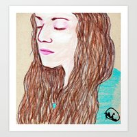 Brittany Portrait Art Print