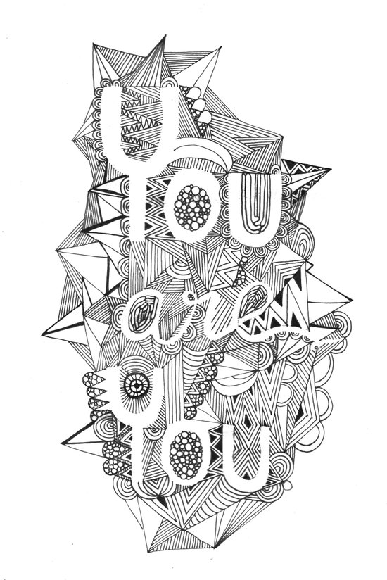 You are you black and white Art Print