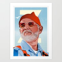 Doc Zissou 2 Art Print
