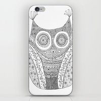 Owl Doodle art iPhone & iPod Skin