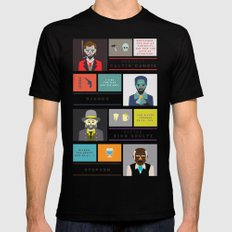 Django Unchained Character Poster Mens Fitted Tee SMALL Black