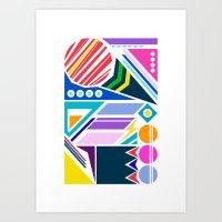 Geo Splash Art Print