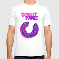 DONUT PANIC [LOST TIME] Mens Fitted Tee White SMALL