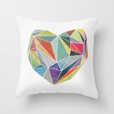 Heart Graphic 5 Throw Pillow