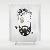 Make Beards not War (typo edition) Shower Curtain