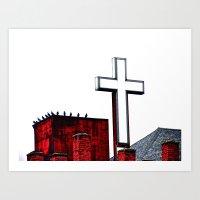 Bird Church Art Print
