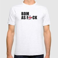 BDM AS F*CK Mens Fitted Tee Ash Grey SMALL