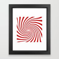 Peppermint Swirl  Framed Art Print
