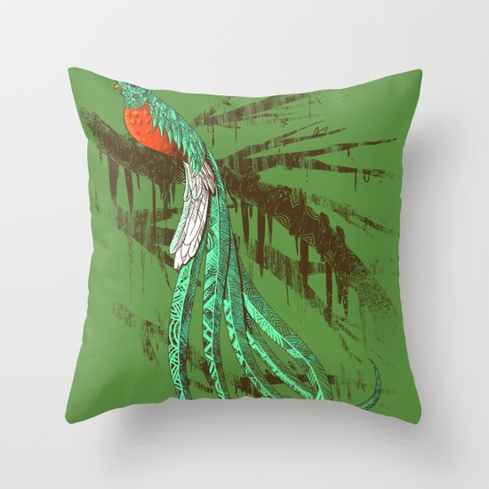 Quetzal Throw Pillow