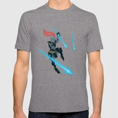 Undyne Mens Fitted Tee Tri-Grey SMALL
