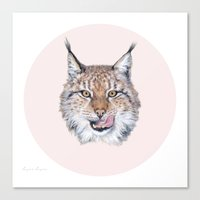 Lynx Lynx Portrait Canvas Print