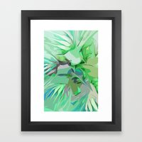 Palm Trees Abstract Framed Art Print