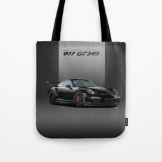 Porsche 911 GT3 RS in Black Tote Bag