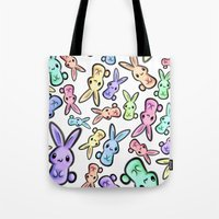 Pastel Bunnies Tote Bag
