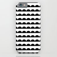 iPhone Cases featuring Scallop - Black and white minimal design print hipster urban city brooklyn socal san francisco bay p by CharlotteWinter