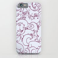iPhone & iPod Case featuring Fox Pattern Screen Print by Katie O'Hagan