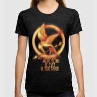 Mockingjay Womens Fitted Tee Tri-Black SMALL