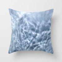 Mammatus Cloud Panorama Throw Pillow
