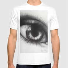 Eye Sketch 1  White Mens Fitted Tee SMALL