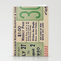 Vintage ticket Stationery Cards