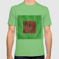 Fresh: Watermelon Mens Fitted Tee Grass SMALL