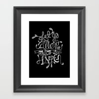 Let Go & Let The Magic Happen Framed Art Print