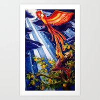 Ivan Tsarevich and the Phoenix Art Print