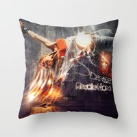 Dance Revolution Throw Pillow