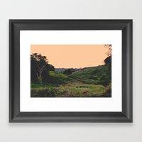 Sunset at the Hills Framed Art Print