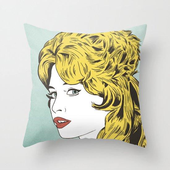 Blonde Bombshell Throw Pillow