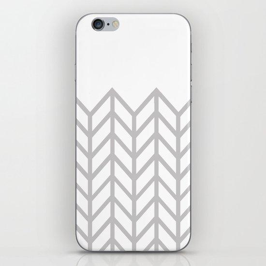 GRAY & WHITE LACE CHEVRON iPhone & iPod Skin