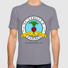 Schrute Farms | The Office - Dwight Schrute Mens Fitted Tee Slate SMALL