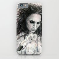 iPhone & iPod Case featuring Black Swan - Natalie Portman by Denise Esposito