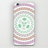 Retro floral circle 3 iPhone & iPod Skin