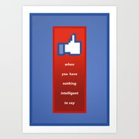 Social Media Art Print
