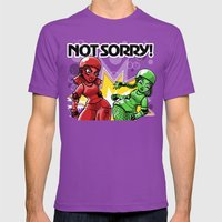 Not Sorry Roller Derby A… Mens Fitted Tee Ultraviolet SMALL