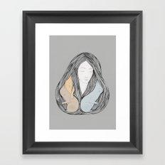 Catlady Framed Art Print